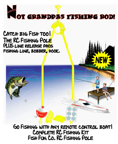 A must have accessory to turn any rc boat into a rc fishing boat.