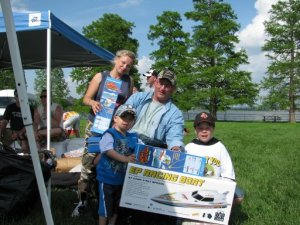 "Jason and his family won a 30"" MasterCaster Rc Fishing Boat from Fish Fun Co."